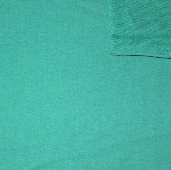 Solid Seafoam 4 Way Stretch French Terry Knit Fabric With Spandex - Raspberry Creek Fabrics