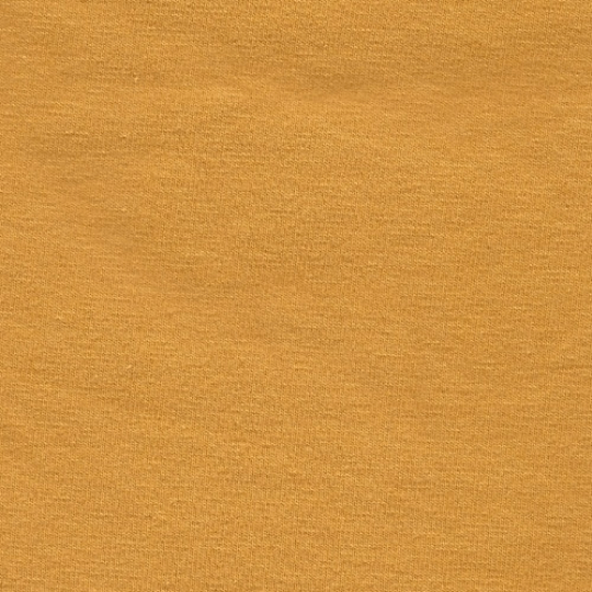 Solid Mustard Yellow 4 Way Stretch 10 oz Cotton Lycra Jersey Knit Fabric, 1 Yard