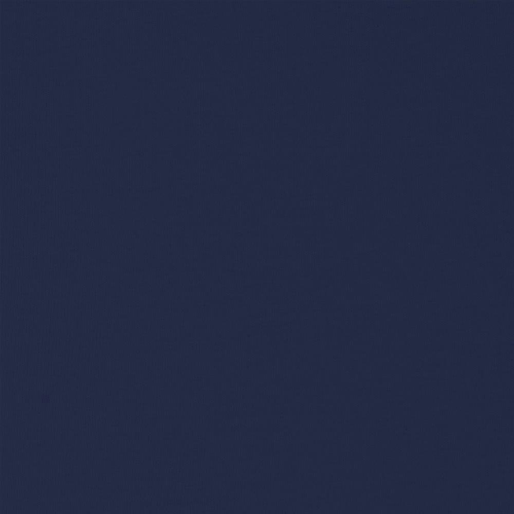 Solid Navy Blue Double Brushed Poly Spandex Knit, 1 Yard