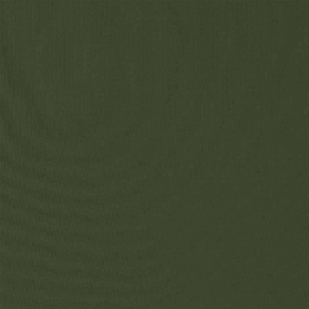 Solid Olive Green Double Brushed Poly Spandex Knit, 1 Yard