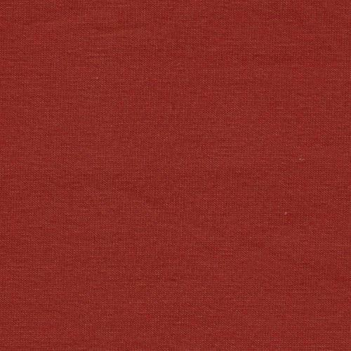 Solid Deep Rust 4 Way Stretch 10 oz Cotton Lycra Jersey Knit Fabric, 1 Yard