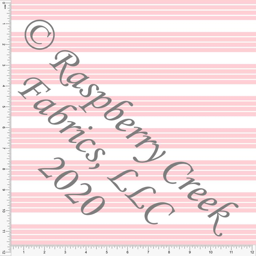 Pink and White Stripe 4 Way Stretch MATTE SWIM Knit Fabric, Club Fabrics - Raspberry Creek Fabrics