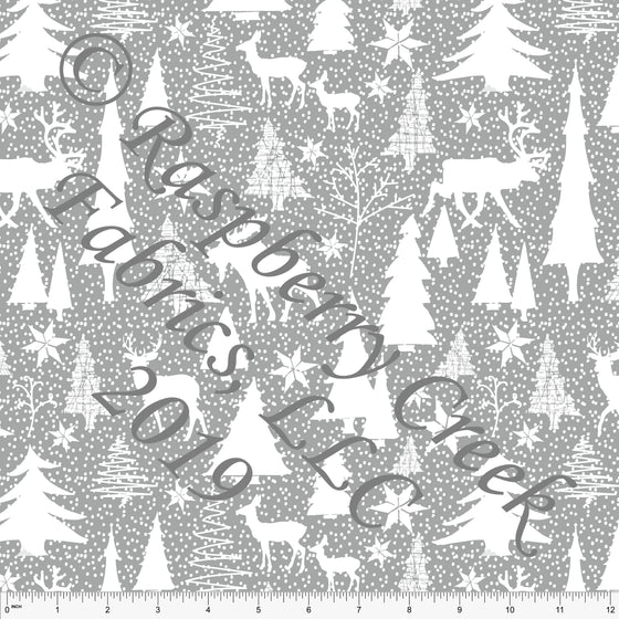 Grey and White Winter Wonderland by Elise Peterson for Club Fabrics - Raspberry Creek Fabrics