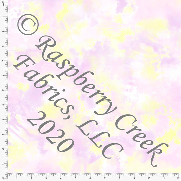 Lilac Pink and Yellow Ice Dyed, Textures for Club Fabrics - Raspberry Creek Fabrics