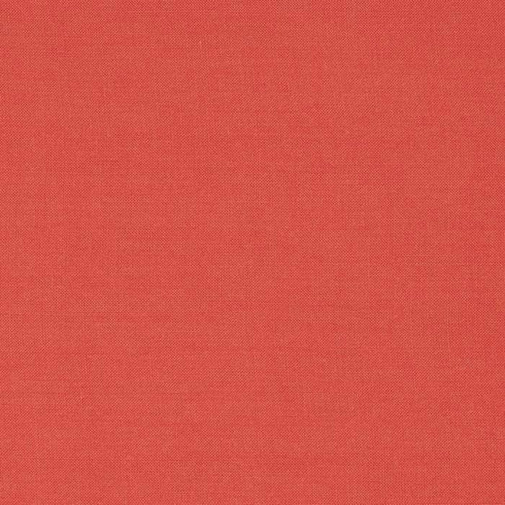 Solid Deep Orange Coral Rayon Challis, 1 Yard