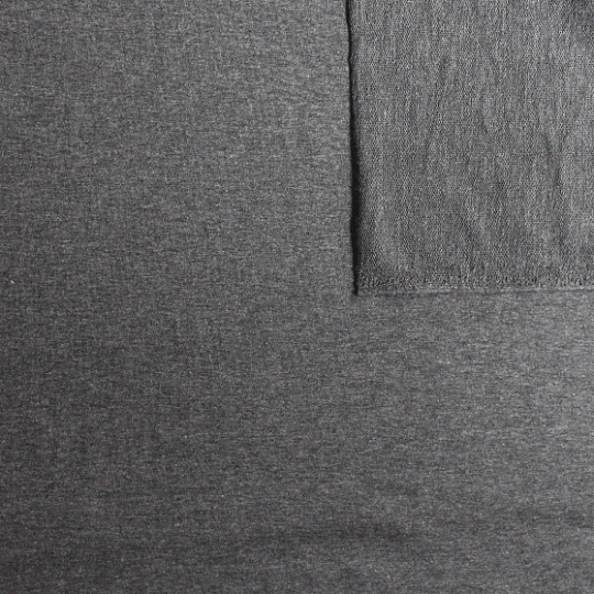 2 WAY STRETCH Solid Heather Charcoal Grey French Terry Knit Fabric With Spandex - Raspberry Creek Fabrics