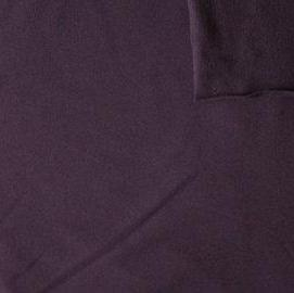 Solid Eggplant 4 Way Stretch French Terry Knit Fabric With Spandex, 1 Yard