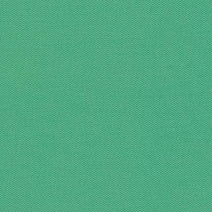 Emerald Green Medium Weight Twill, Ventana Twill Collection by Robert Kaufman, 1 Yard