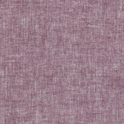 Heathered Purple Heliotrope Washable Yarn Dyed Rayon Linen, Brussels Washer Linen Collection By Robert Kaufman, 1 Yard