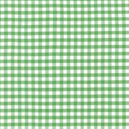 Kelly Green and White Plaid 1/4 inch Checked Gingham, Robert Kaufman Carolina Gingham, 1 Yard - Raspberry Creek Fabrics