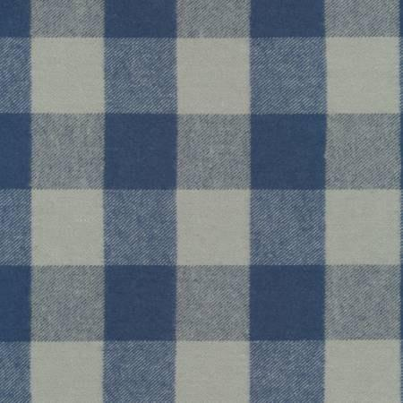 Blue and Grey Robert Kaufman Tahoe Plaid Flannel, 1 Yard - Raspberry Creek Fabrics