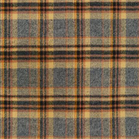 Mustard Rust Charcoal and Black Robert Kaufman Mammoth Plaid Flannel, 1 Yard