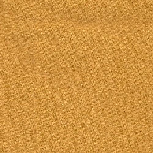 Solid Mustard Yellow Double Brushed Poly Spandex Knit - Raspberry Creek Fabrics