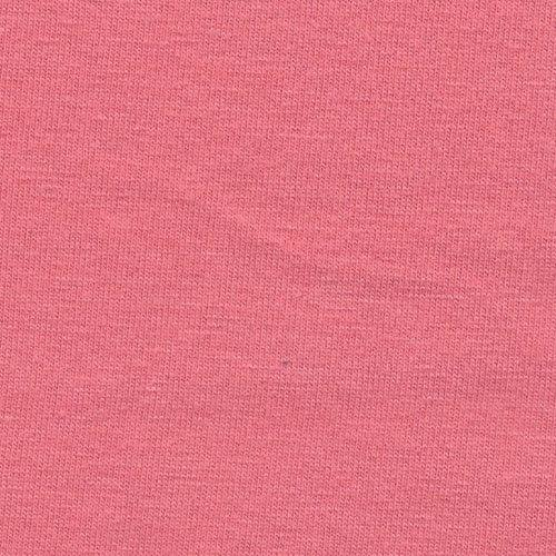 Solid Salmon Pink 4 Way Stretch 10 oz Cotton Lycra Jersey Knit Fabric, 1 Yard