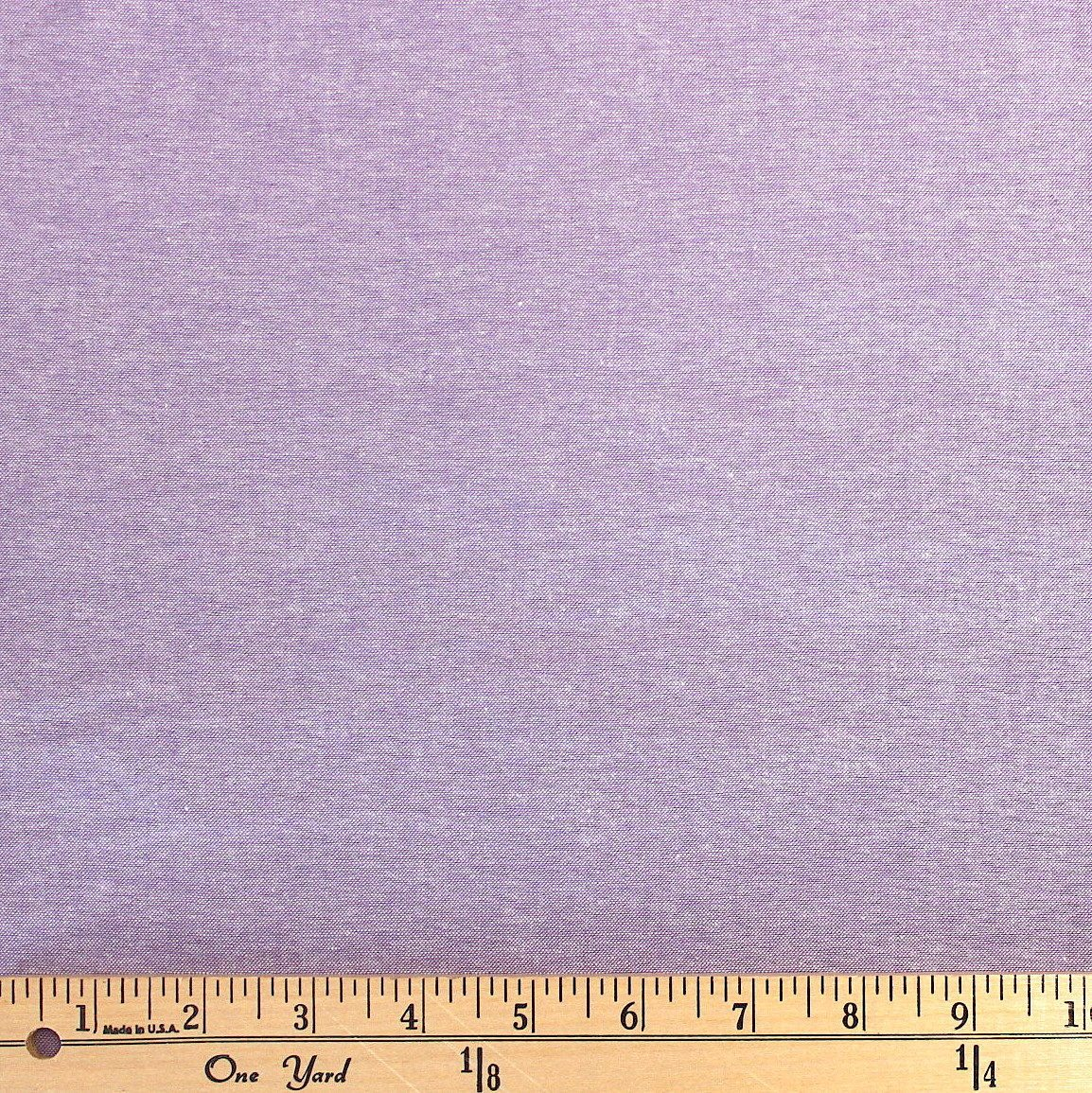 Lavender Purple Medium Weight Chambray, 1 Yard - Raspberry Creek Fabrics