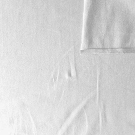 Solid White 4 Way Stretch French Terry Knit Fabric With Spandex, 1 Yard Non-Continuous - Raspberry Creek Fabrics