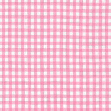 Candy Pink and White Plaid 1/4 inch Checked Gingham, Robert Kaufman Carolina Gingham, 1 Yard