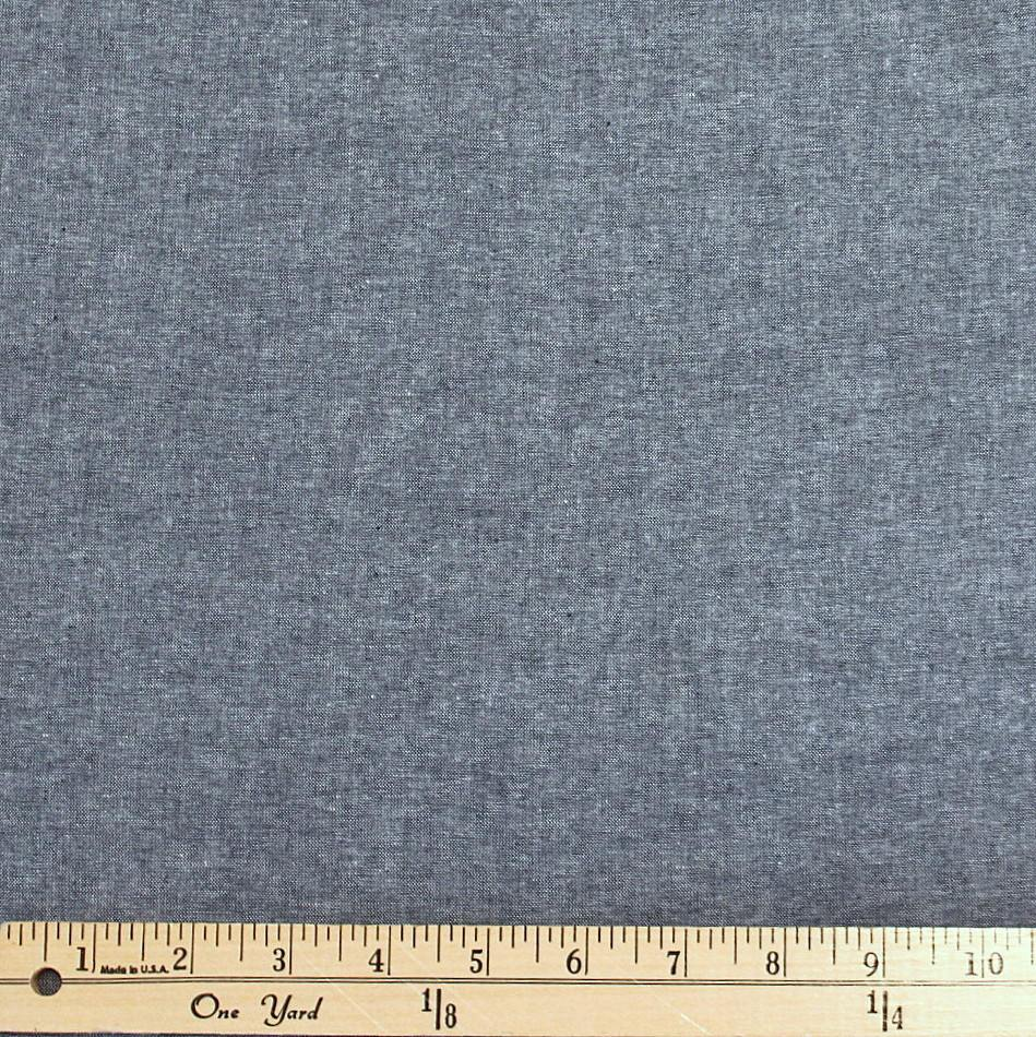 Indigo Blue Medium Weight Chambray, 1 Yard - Raspberry Creek Fabrics