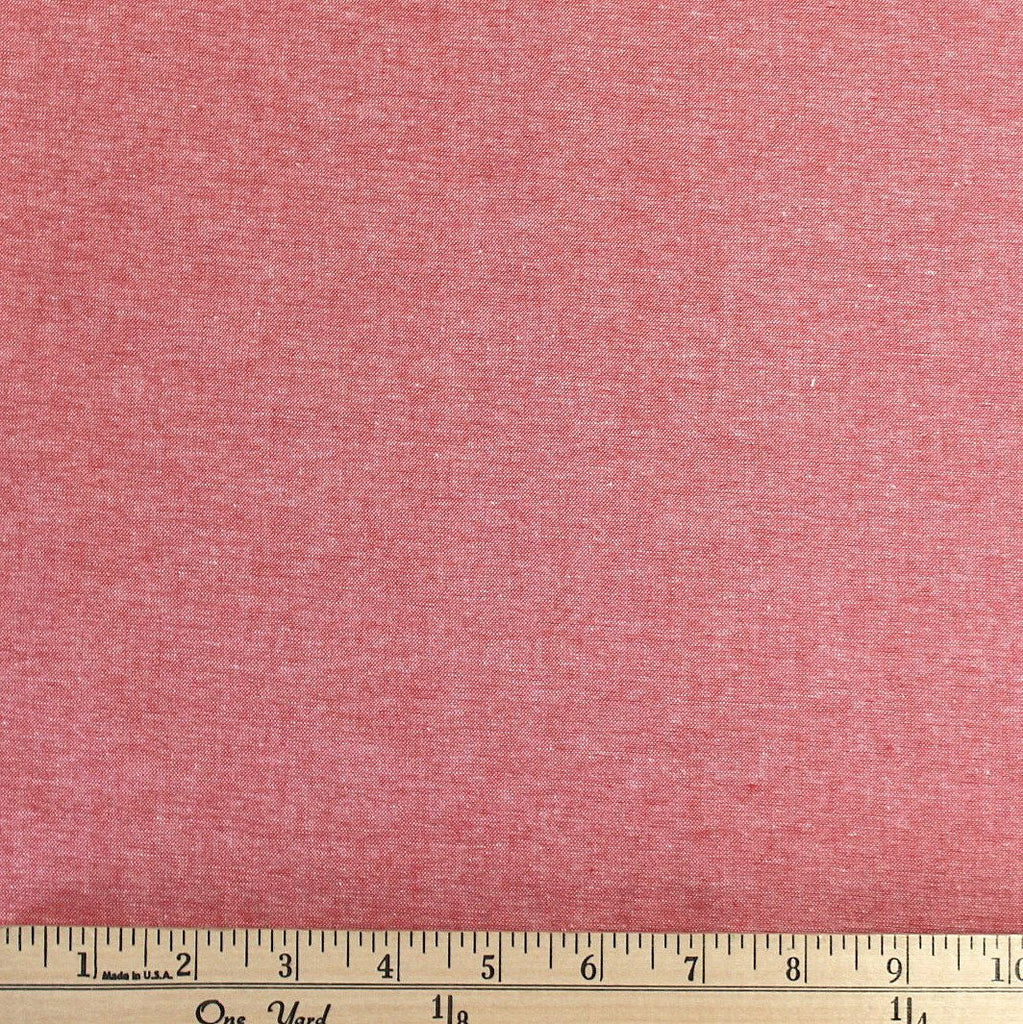 Carolina Red Medium Weight Chambray, 1 Yard