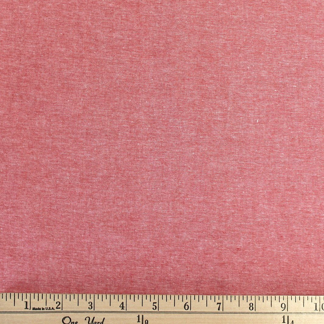 Carolina Red Medium Weight Chambray, 1 Yard - Raspberry Creek Fabrics
