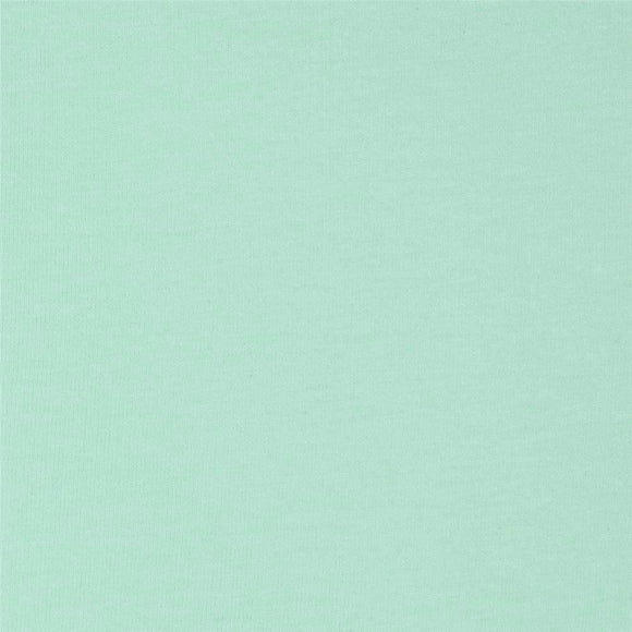 Solid Mint Green 4 Way Stretch 10 oz Cotton Lycra Jersey Knit Fabric, 1 Yard