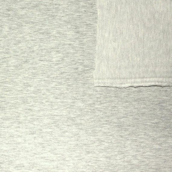 Solid Heathered Oatmeal 4 Way Stretch French Terry Knit Fabric With Spandex, 1 Yard