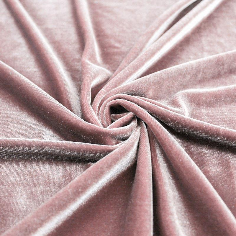 Blush Mauve Stretch Velvet Knit, 1 yard