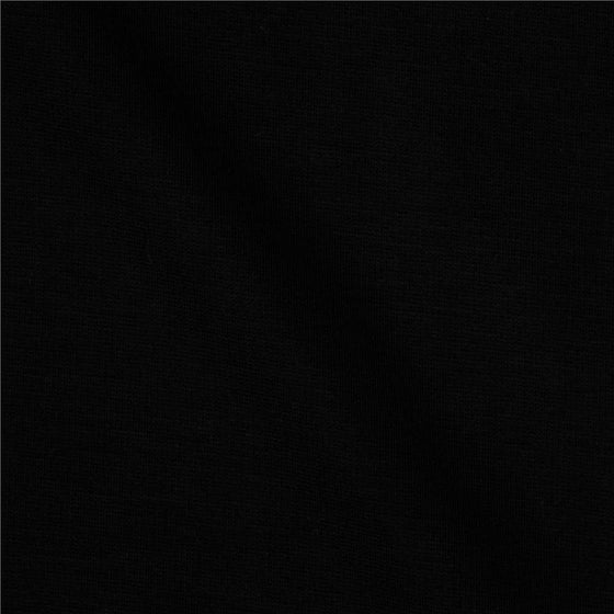 Solid Black Double Brushed Poly Spandex Knit, 1 yard