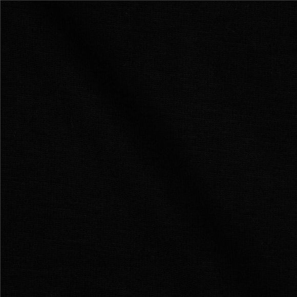 Solid Black Double Brushed Poly Spandex Knit - Raspberry Creek Fabrics