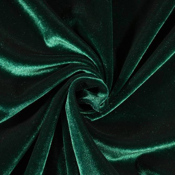 Emerald Green Stretch Velvet Knit - Raspberry Creek Fabrics