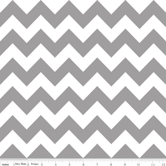 Grey and White Chevron Cotton for Riley Blake, 1 Yard