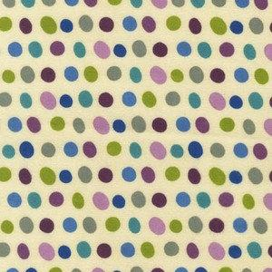 Green and Purple Polka Dot Flannel, Robert Kaufman Garden Dots Flannel, 1 Yard - Raspberry Creek Fabrics
