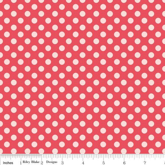 Two tone Pink Dot Flannel, Simply Sweet by Lori Whitlock for Riley Blake, Dot Print in Pink, 1 Yard