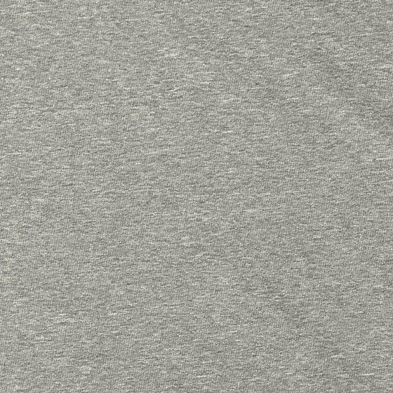 Solid Light Grey 4 Way Stretch 10 oz Cotton Lycra Jersey Knit Fabric, 1 Yard