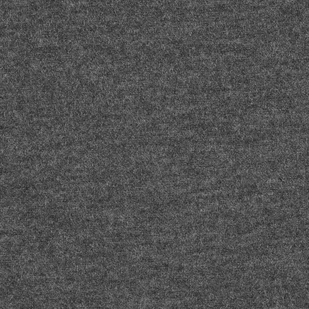 Solid Charcoal Grey 10 oz Cotton Lycra Jersey Knit Fabric, 1 Yard