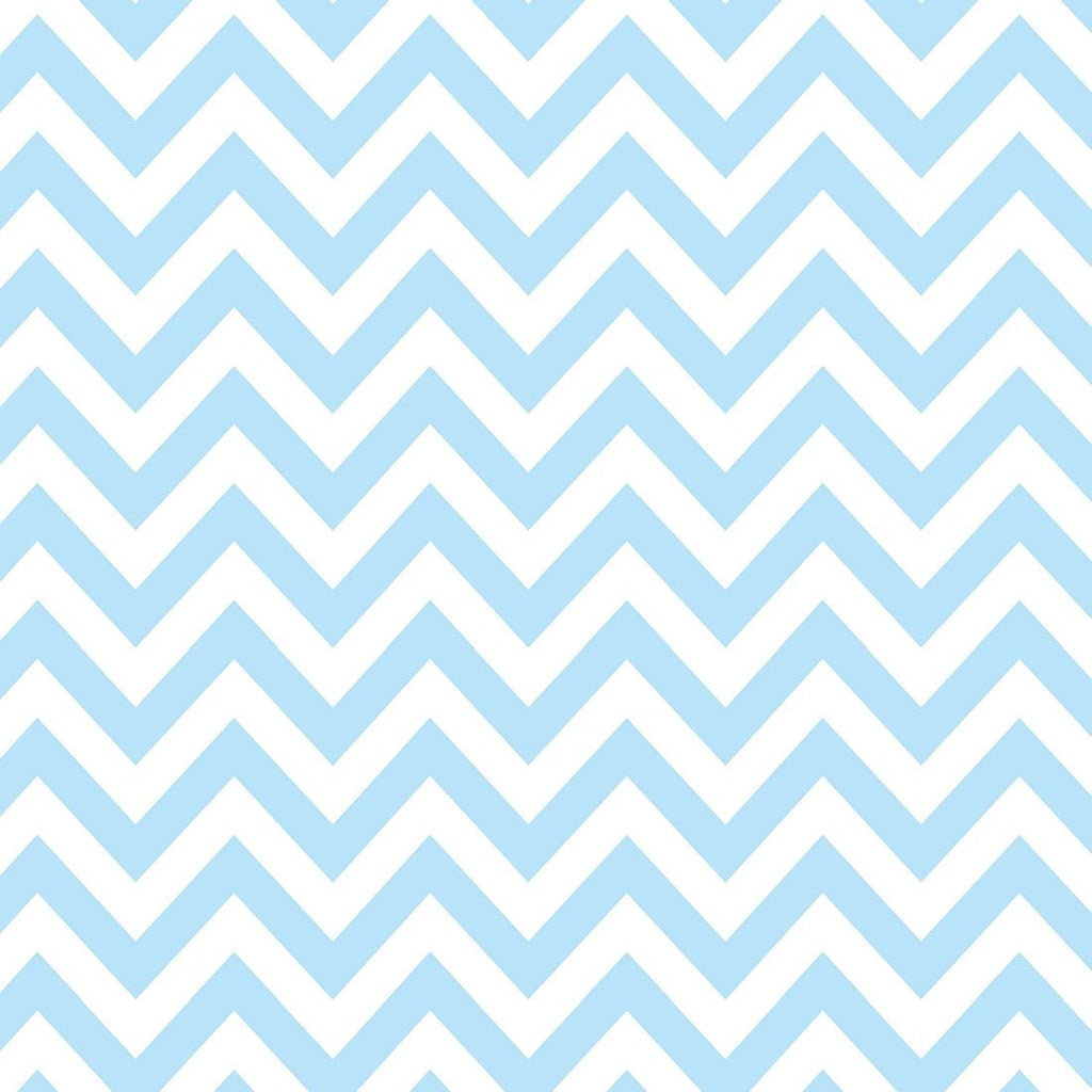 Blue and White Chevron Flannel, 1 Yard - Raspberry Creek Fabrics