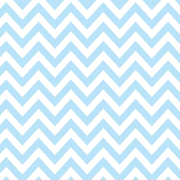 Blue and White Chevron Flannel, 1 Yard