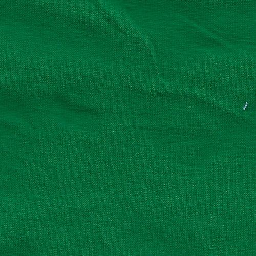 Solid Kelly Green 4 Way Stretch 9oz Cotton Lycra Jersey Knit Fabric, 1 Yard