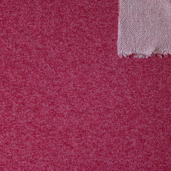 Merlot Red Heathered French Terry Knit Sweatshirt Fabric, 1 Yard PRE-ORDER - Raspberry Creek Fabrics