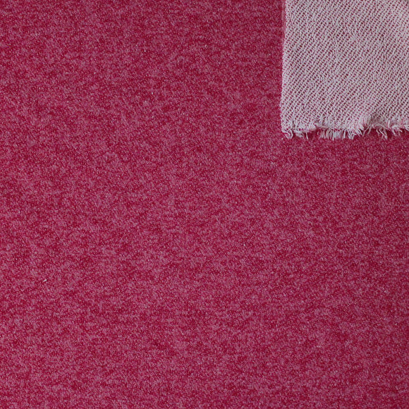 Burgundy Heathered French Terry Knit Sweatshirt Fabric - Raspberry Creek Fabrics