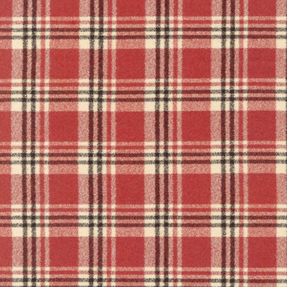 Red Black and Cream Robert Kaufman Mammoth Plaid Flannel, 1 Yard