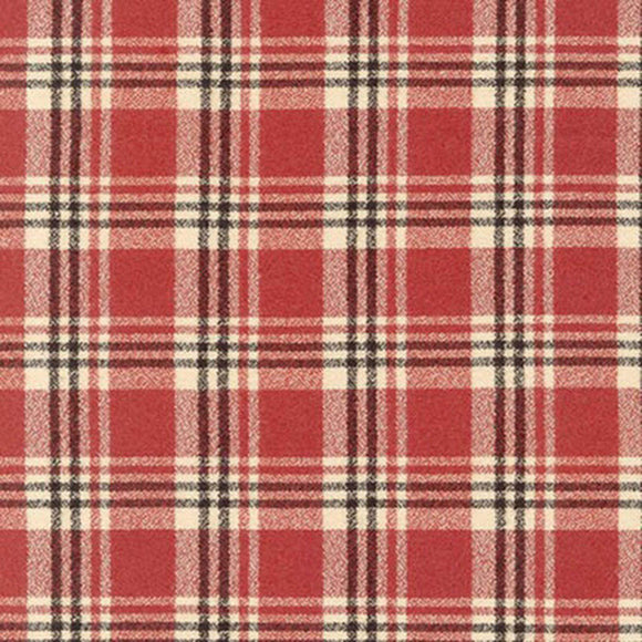 Red Black and Cream Robert Kaufman Mammoth Plaid Flannel, 1 Yard - Raspberry Creek Fabrics