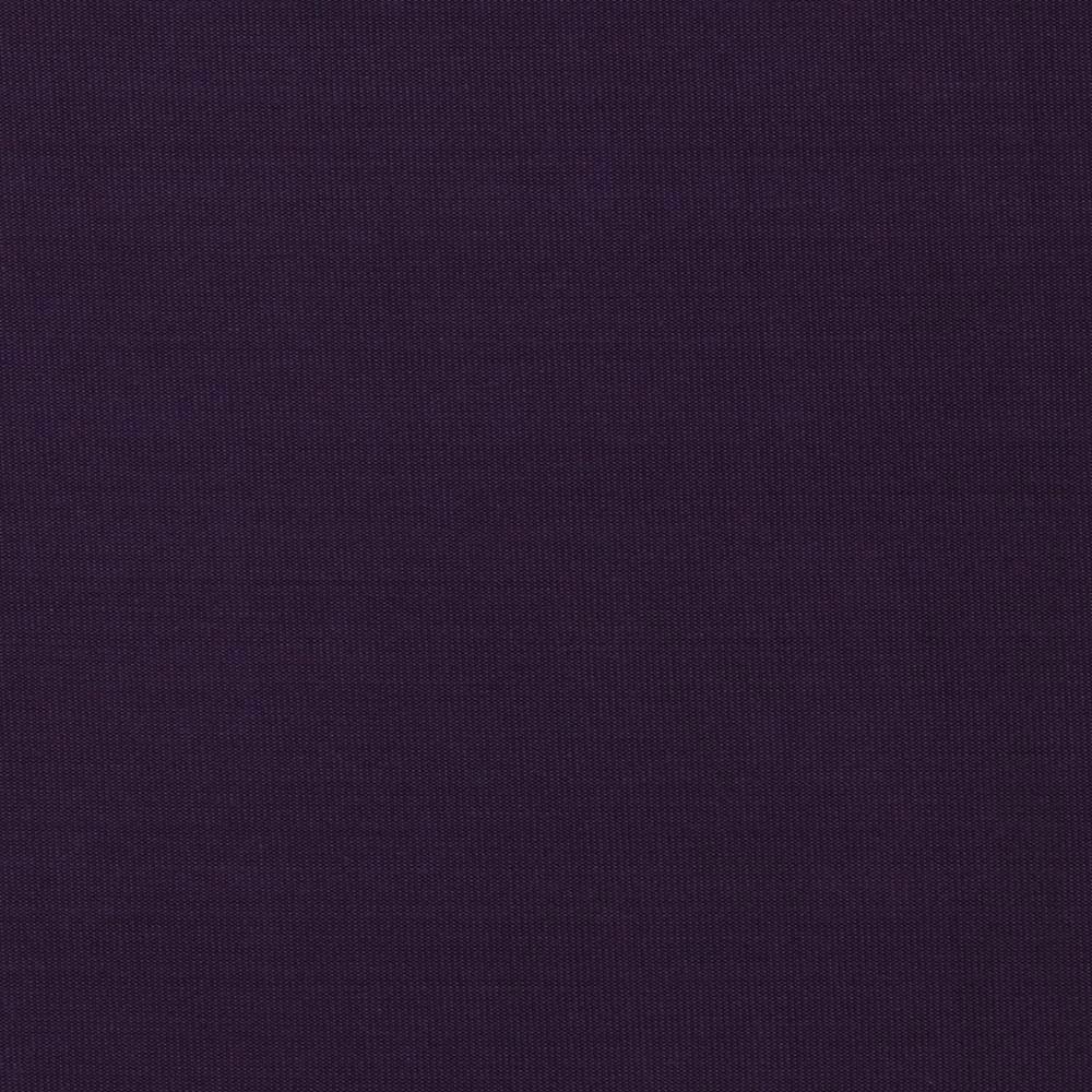 Solid Eggplant Purple 4 Way Stretch 10 oz Cotton Lycra Jersey Knit Fabric, 1 Yard