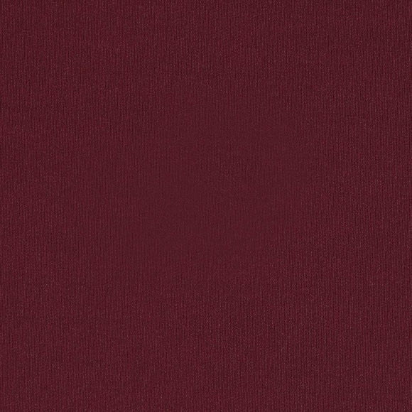 Solid Burgundy Red 4 Way Stretch 9oz Cotton Lycra Jersey Knit Fabric, 1 Yard