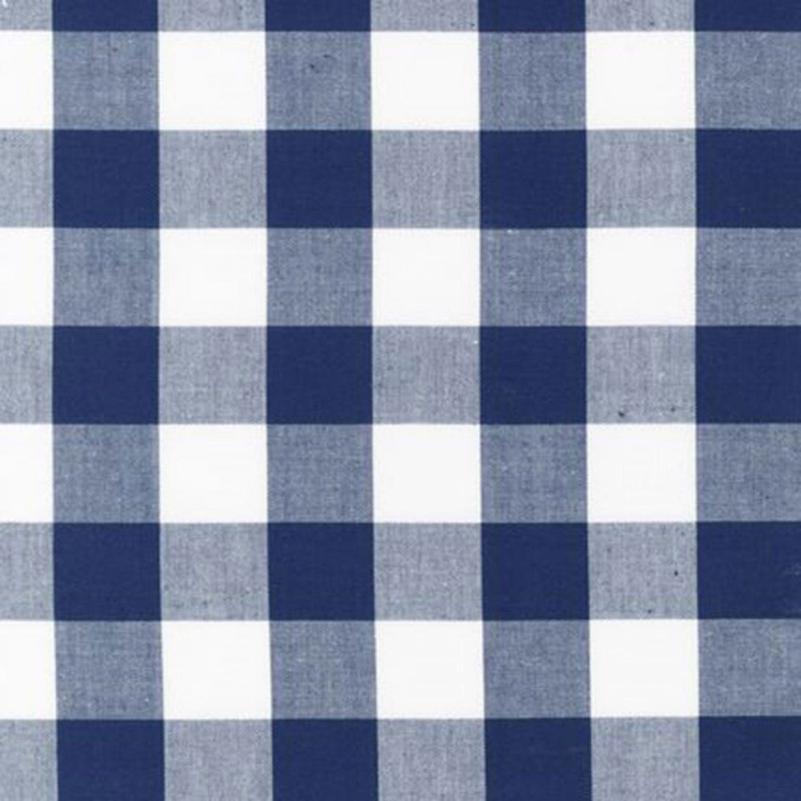 Navy and White Plaid Checked Gingham, Robert Kaufman Carolina Gingham, 1 Yard - Raspberry Creek Fabrics
