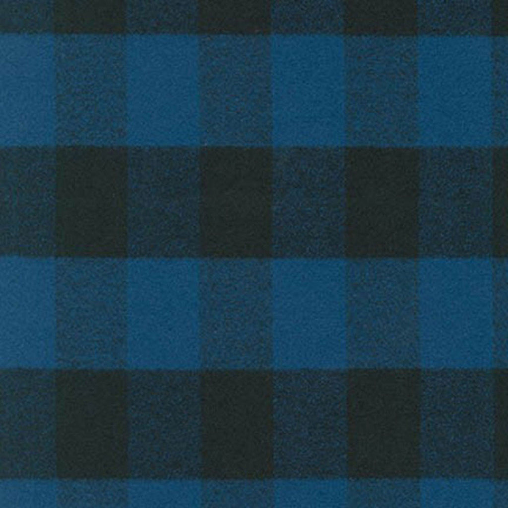 Blue and Black Robert Kaufman Mammoth Plaid Flannel - Raspberry Creek Fabrics
