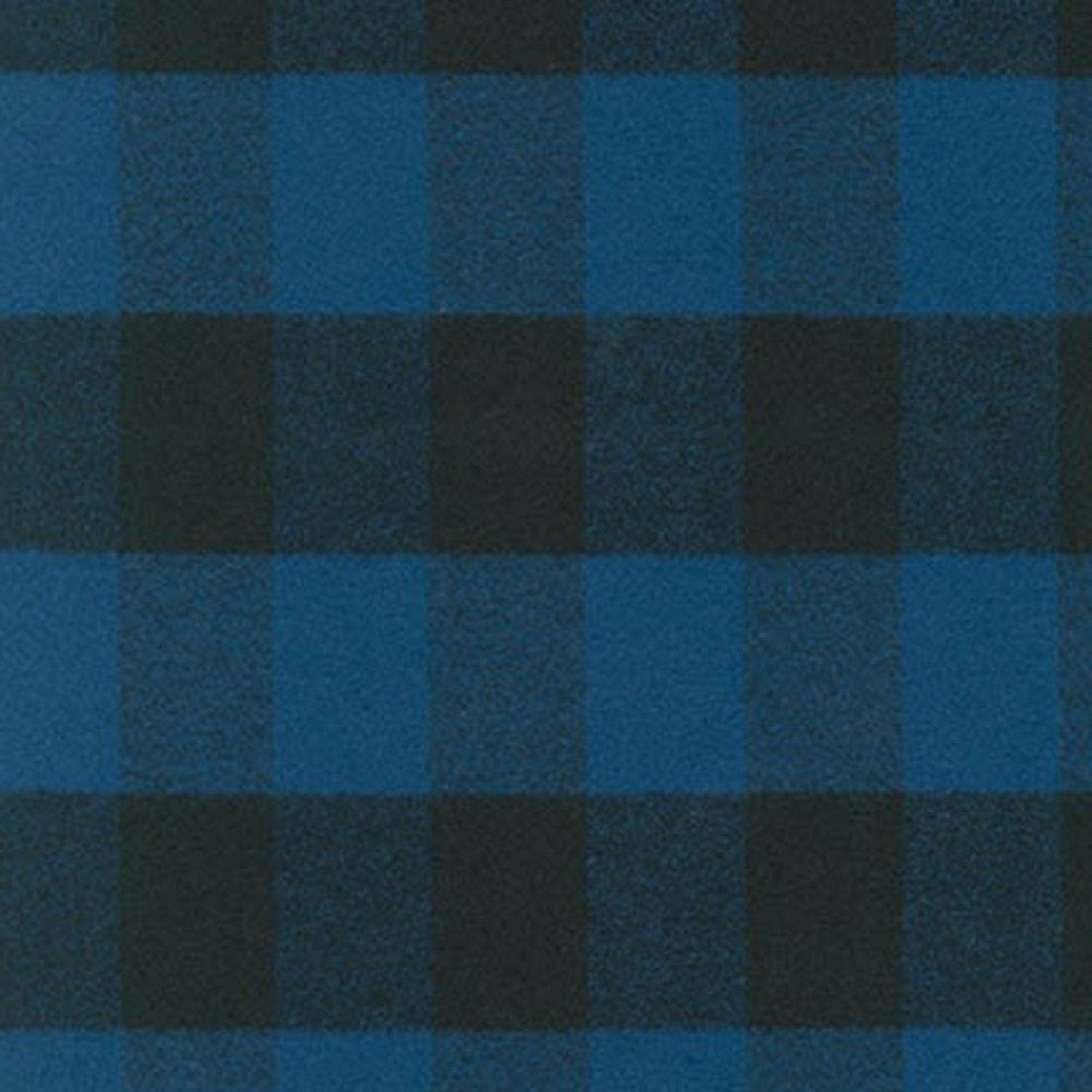 Blue and Black Robert Kaufman Mammoth Plaid Flannel - Raspberry Creek Fabrics Knit Fabric