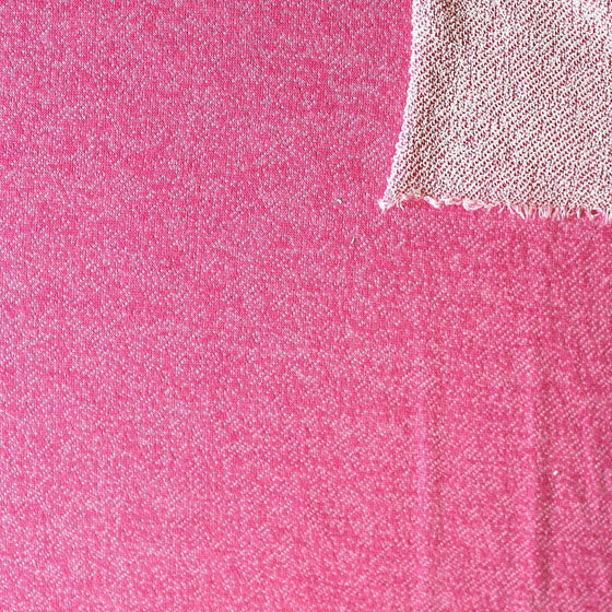 Roseberry Pink Heathered French Terry Knit Sweatshirt Fabric, 1 Yard - Raspberry Creek Fabrics