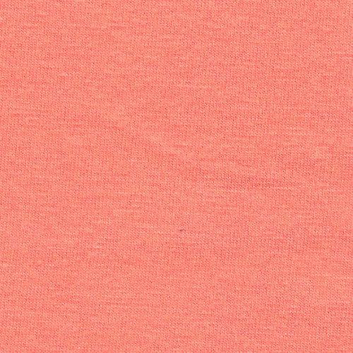 Solid Coral 4 Way Stretch 10 oz Cotton Lycra Jersey Knit Fabric, 1 Yard - Raspberry Creek Fabrics