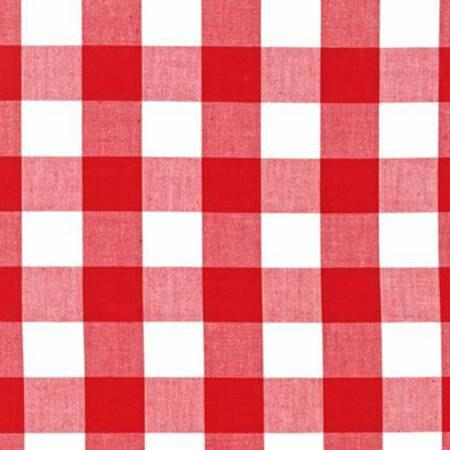 Red and White Plaid Checked Gingham, Robert Kaufman Carolina Gingham, 1 Yard - Raspberry Creek Fabrics